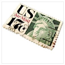 US Postage Stamp Poster