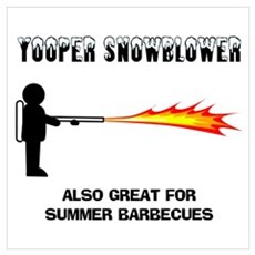 Yooper Snowblower Canvas Art