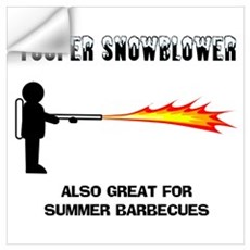 Yooper Snowblower Wall Decal
