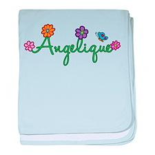 Angelique Flowers baby blanket