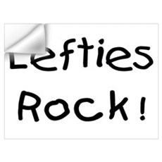 Lefties Rock! Wall Decal