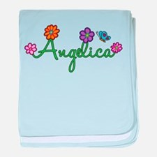Angelica Flowers baby blanket