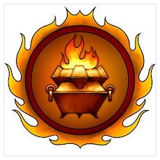 Lunus Drulkar Symbol Poster
