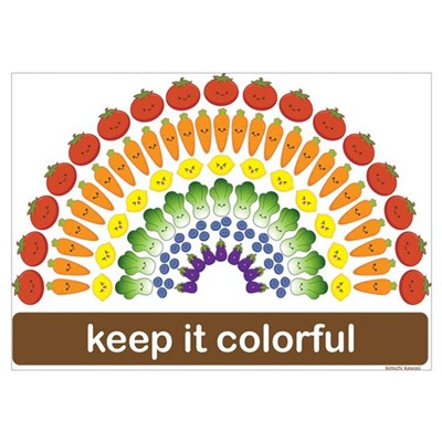 Keep It Colorful Poster