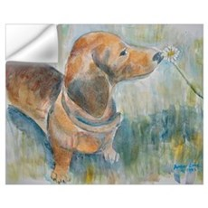 """Flower Child"" a Dachshund Wall Decal"