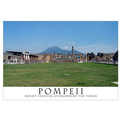Pompeii Forum (Wide view) Framed Print