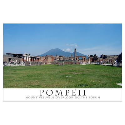 Pompeii Forum (Wide view) Poster