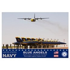 Blue Angels C-130 Hercules Framed Print