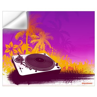 Turntable Paradise Wall Decal