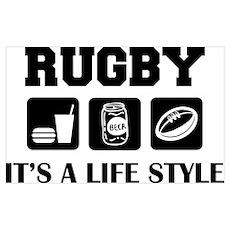 Food Beer Rugby Poster