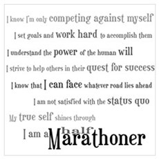 I'm a Half Marathoner Canvas Art