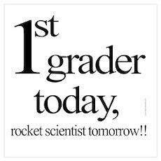 First Grade 1st Grader Poster