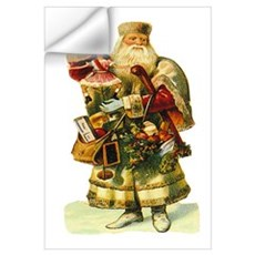 Vintage Santa with Doll Wall Decal