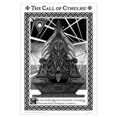 Cthulhu Statue Poster