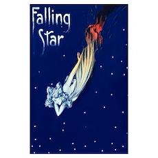 Falling Star Vintage Poster