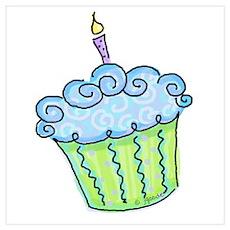 Cute Cupcake (blue) Poster