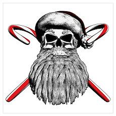 Xmas Skull Poster