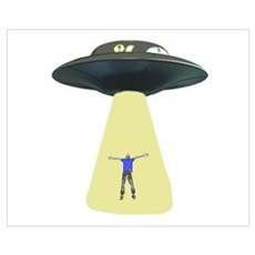 UFO Out of this world Framed Print