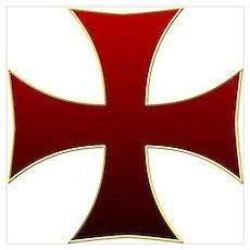 Templar Cross Poster