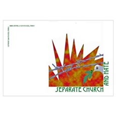 Separate Church and Hate Framed Print