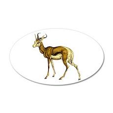 Springbok Antelope 38.5 x 24.5 Oval Wall Peel