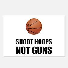 Shoot Hoops Not Guns Basketball Postcards (Package