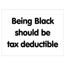 Black, tax deductible Framed Print
