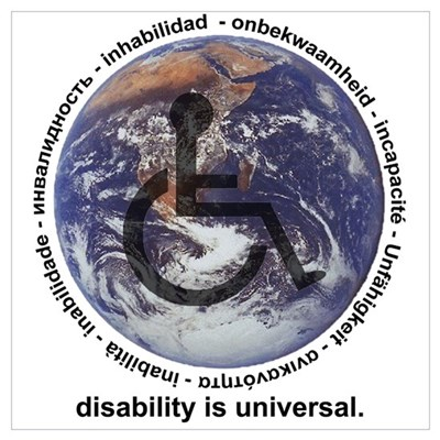 DISABILITY IS UNIVERSAL Framed Print