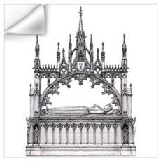 gothic tomb Wall Decal