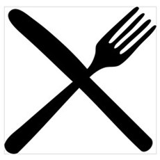 cutlery - knife and fork Poster