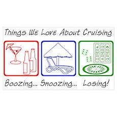 Boozing, Snoozing... Poster