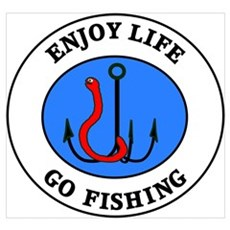 Enjoy Life Go Fishing Framed Print