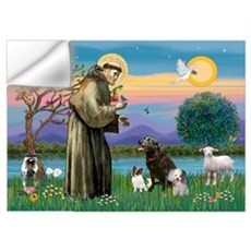 St Francis/3 dogs Wall Decal