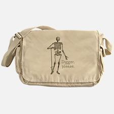 Digger, Please Funny Skeleton Messenger Bag