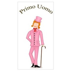 Redhead Primo Uomo in Pink Suit Poster