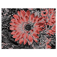 Red Floral Delight Poster