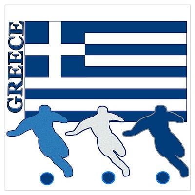 Soccer Greece Poster