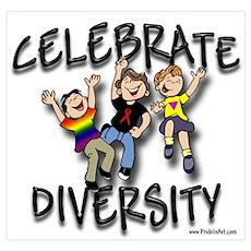 Celebrate Diversity Gay Pride Poster
