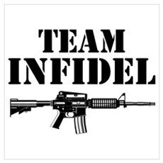 Team Infidel Framed Print