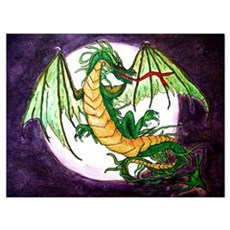 In Green (dragon) Poster