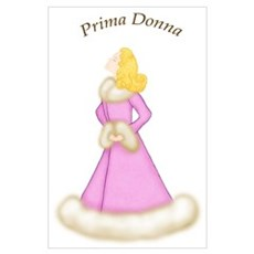 Blonde Prima Donna in Pink Robe Poster