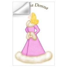 Blonde Prima Donna in Pink Robe Wall Decal