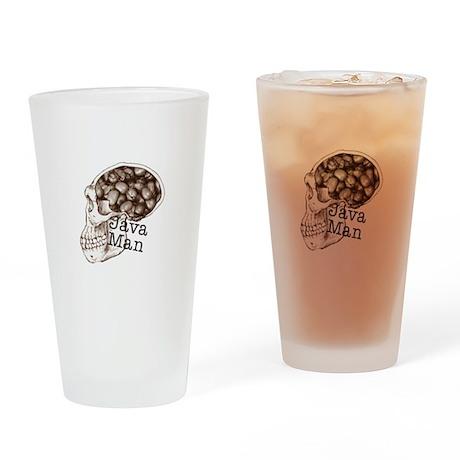 Java Bean Man Drinking Glass