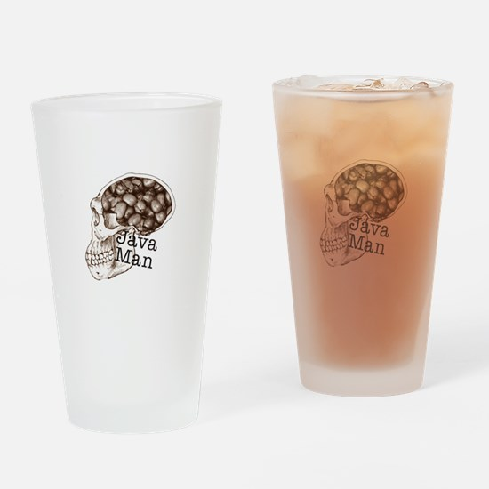 Java Bean Man Drinking Glass