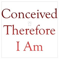 Conceived, Therefore, I Am... Canvas Art