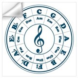 Bass clef circle of fifths Wall Decals