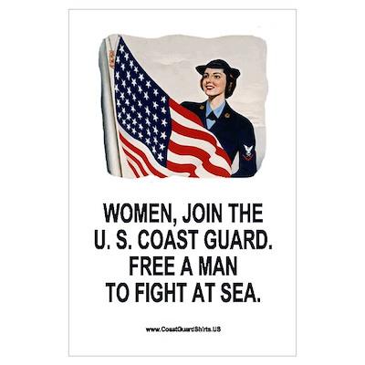Coast Guard SPAR<BR> Retro Recruiting Poster