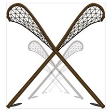 Traditional Lacrosse Sticks Poster