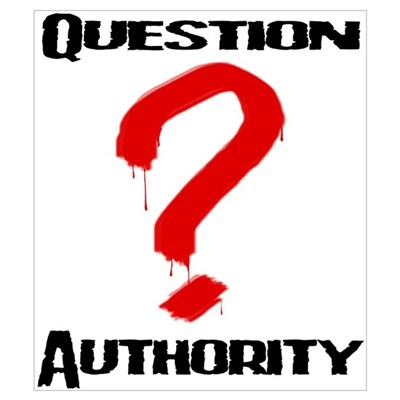Question Authority 1 Framed Print
