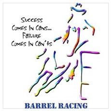 Barrel Racing Canvas Art